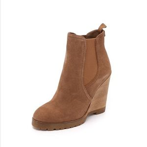 Michael Michael Kors Brown Suede Boots Wedges